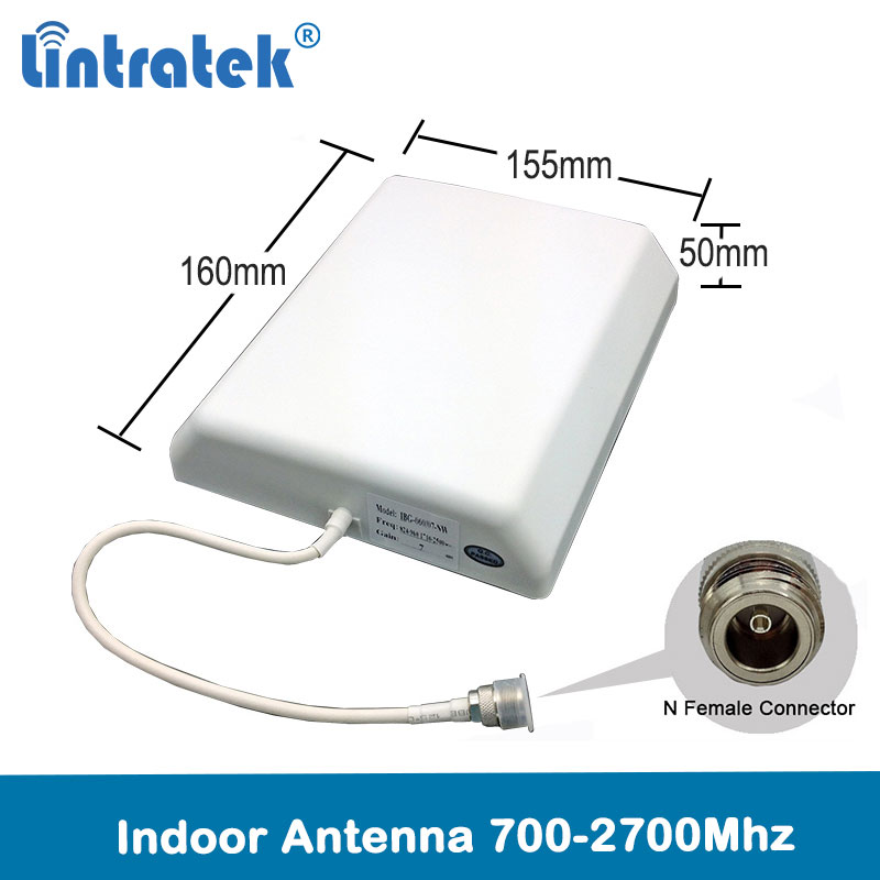 Lintratek 2G 3G 4G Lte Internal Panel Antenna Indoor Outdoor Antenna 700-2700 4G Antenna For CellPhone Siganl Booster Repeater
