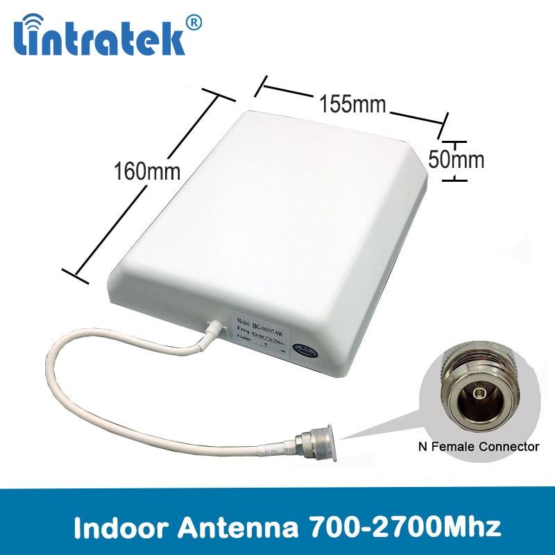 Lintratek 2G 3G 4G Lte Internal Panel Antenna Indoor Outdoor Antenna 700-2700 4G Antenna For CellPhone Siganl Booster Repeater