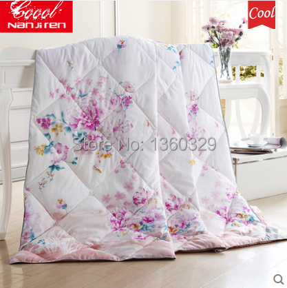 Top Ice Silk Summer Quilted Comforter King Size Summer Quilts Bed Set Thin Summer Quilt Patterns Blanket Cover Free Shipping