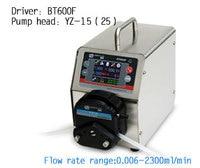 BT600F YT25 Big Flow Precise Dispensing Intelligent Peristaltic Dosing Liquid Pump Lab Industry Pump 0.147 2900ml/min