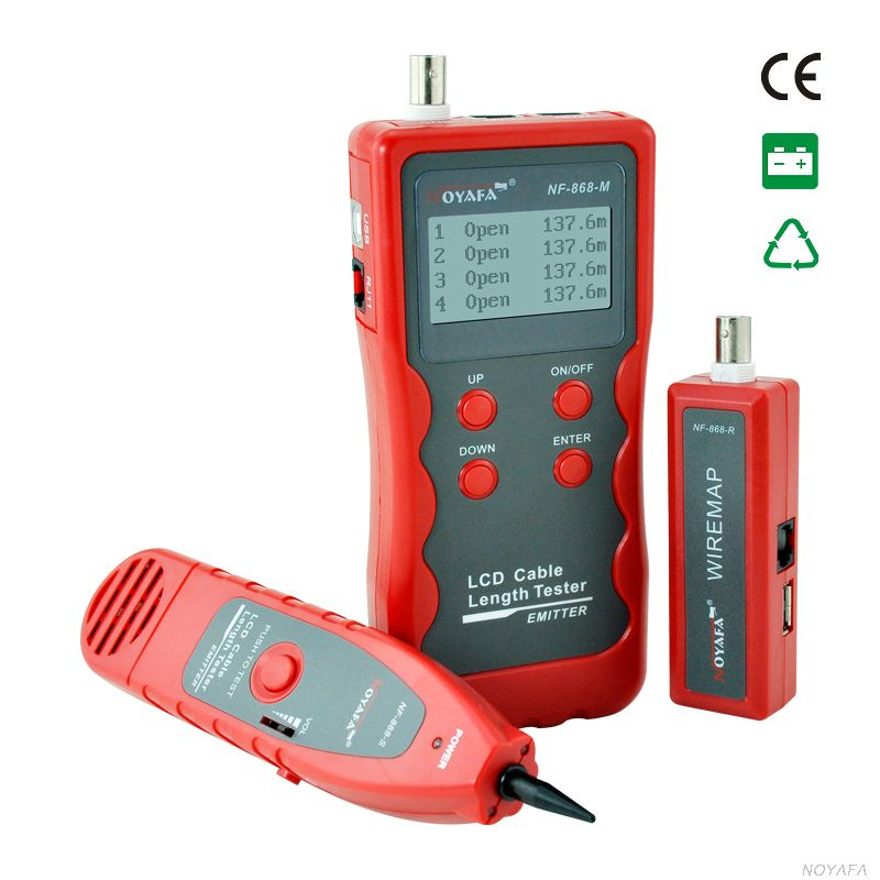 Cable Tester LCD Screen Wire Tracer Cable Scan Break Point  Length Tester  RJ45 RJ11 BNC USB Cable Testing
