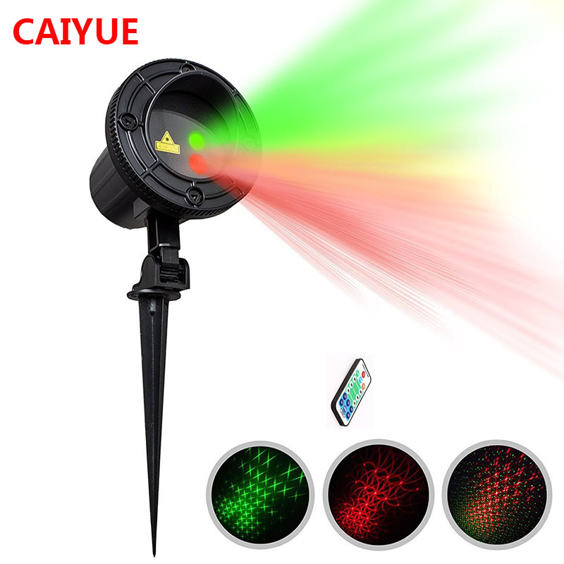 Christmas Lights Outdoor Motion Laser Projector Shower For Home Decorations Red Green Holiday Lighting Fairy Lamp With RF Remote