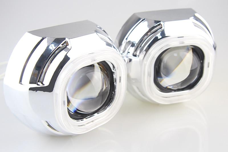 Car External font b Light b font Xenon Headlight Lens HID H1 2 5 inch Bi