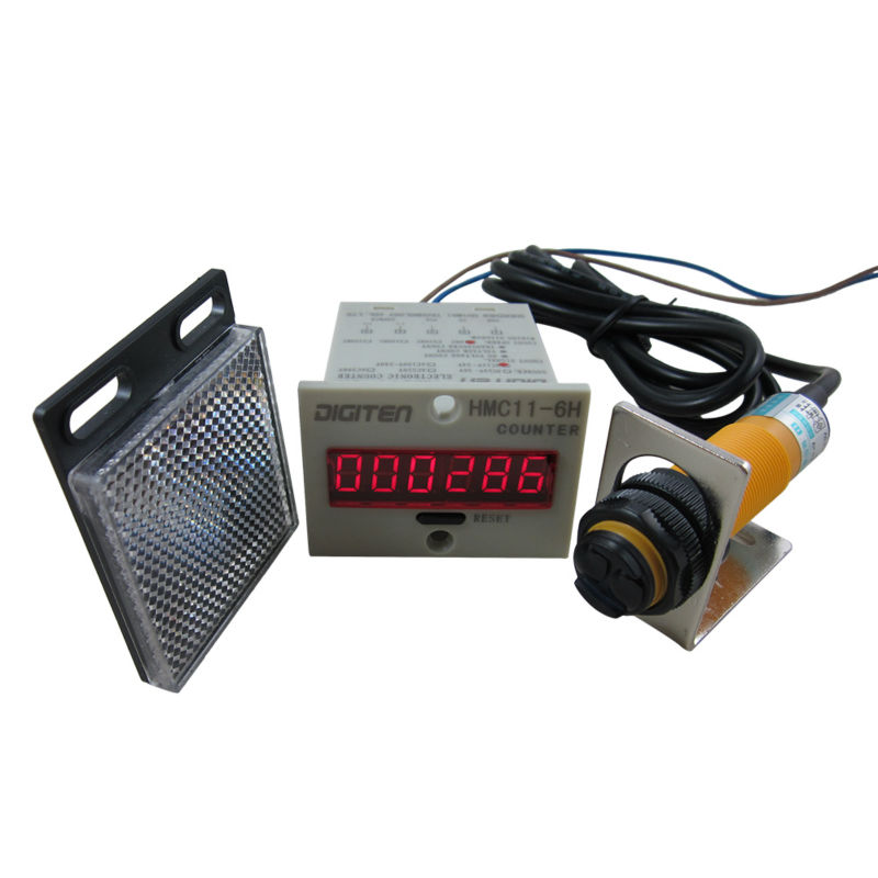 Digital Counters With Sensors : Digital led counter photoelectric switch sensor
