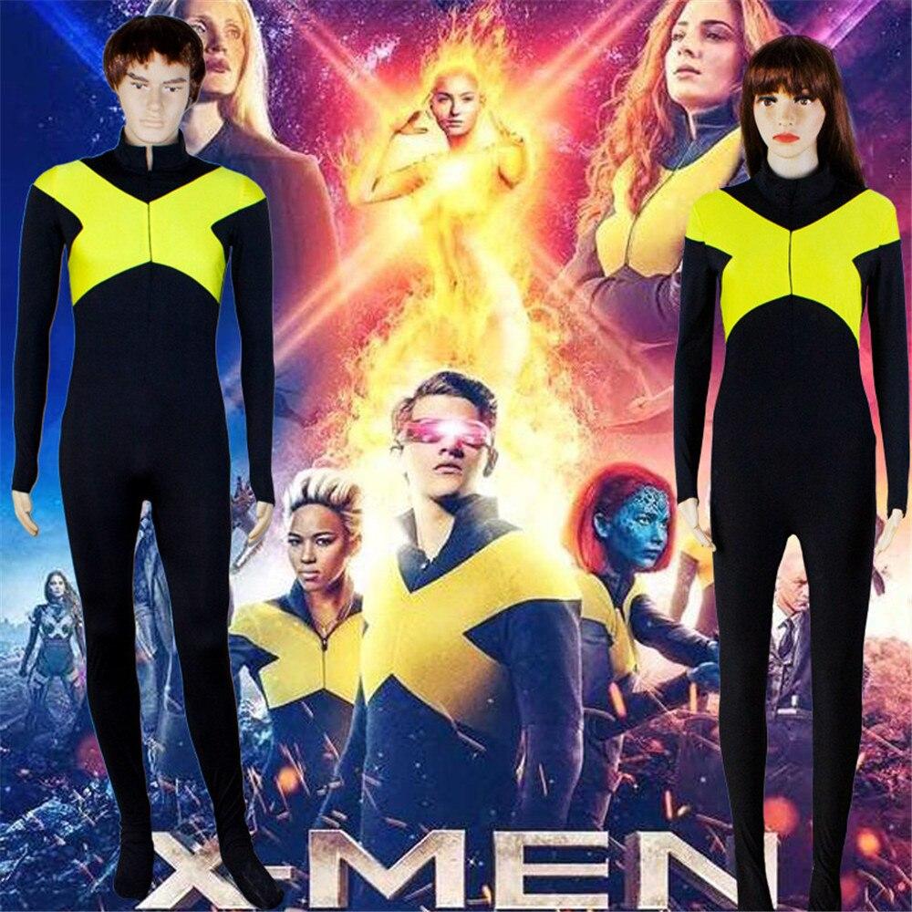 X-Men: Dark Phoenix Jean Grey Cosplay Costume Jumpsuit Bodysuit Jacket Uniform Suit For Women Girls Halloween Carnival Costumes