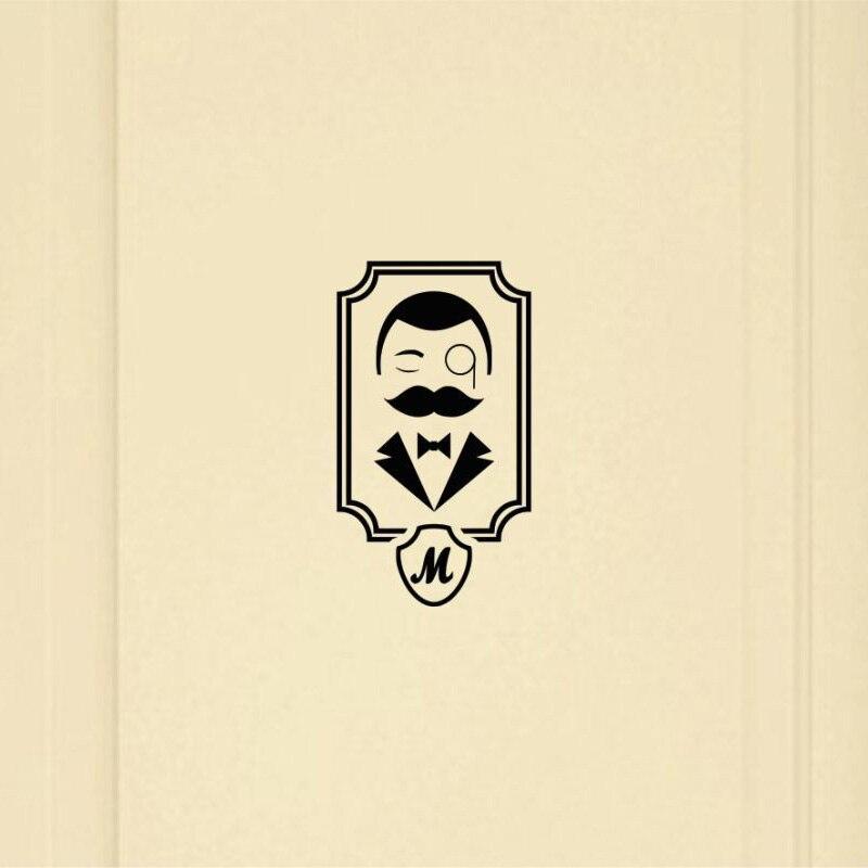 Ретро Для мужчин и Для женщин двери туалета Стикеры DIY винил декоративные наклейки 2ws0106
