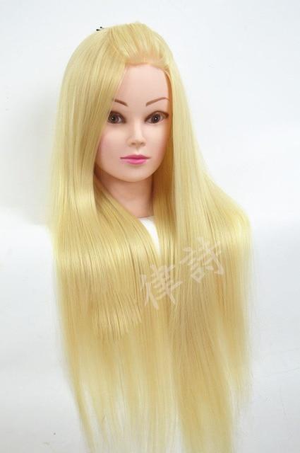 """Célèbre Professionnel 24 """" blanc fibers beaux cheveux femme Mannequin +  UN52"""