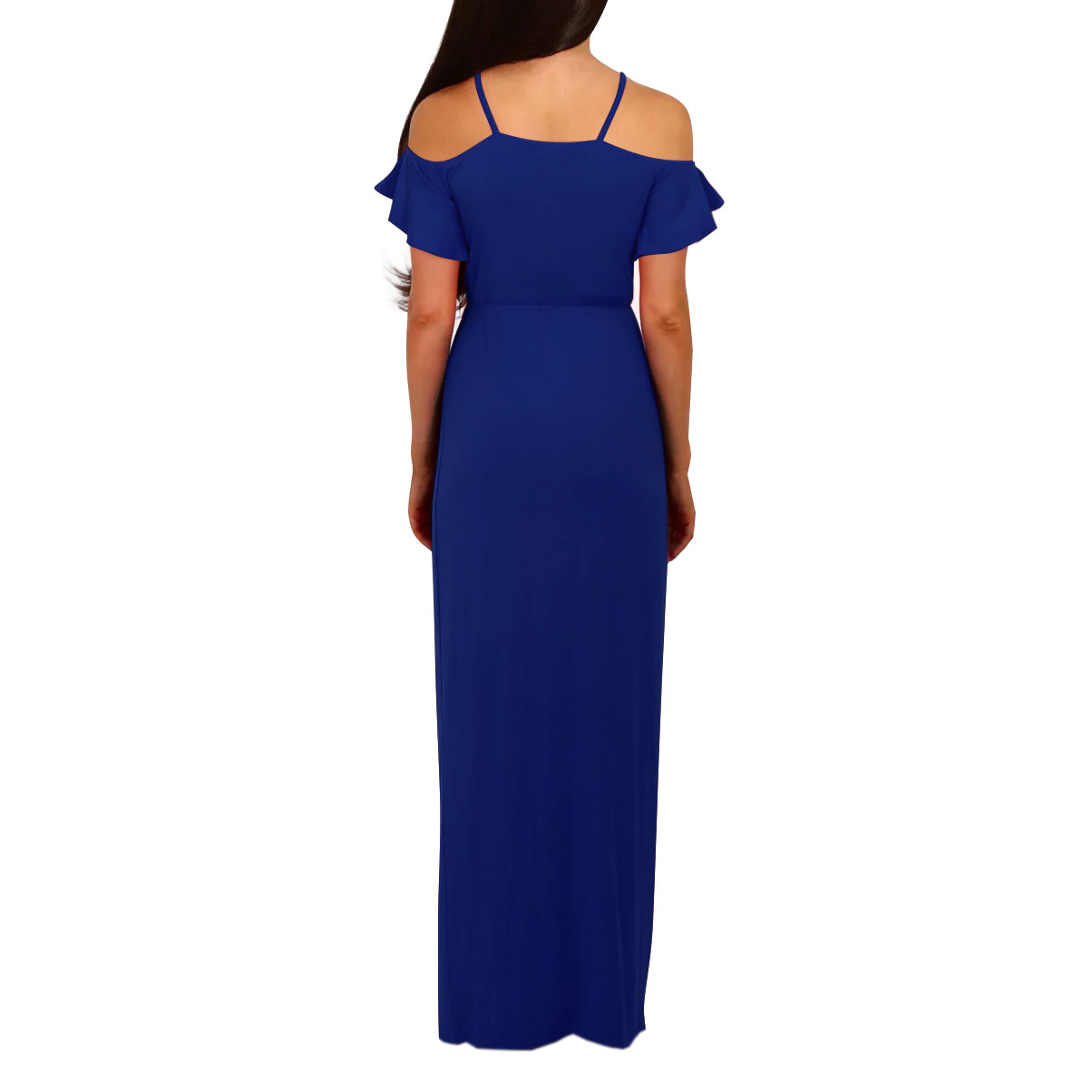 Women Party Dreses Short Sleeve V Neck Cold Shoulder Dresses Maxi Long Dress Split Sexy Dress Plus Size WS1111R