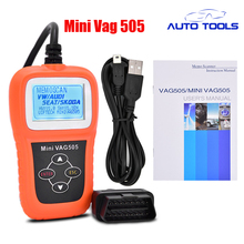 Hot selling Mini VAG505 Super Professional Scanner mini vag 505 auto car code reader scanner for VW/AD Scanner via free shipping