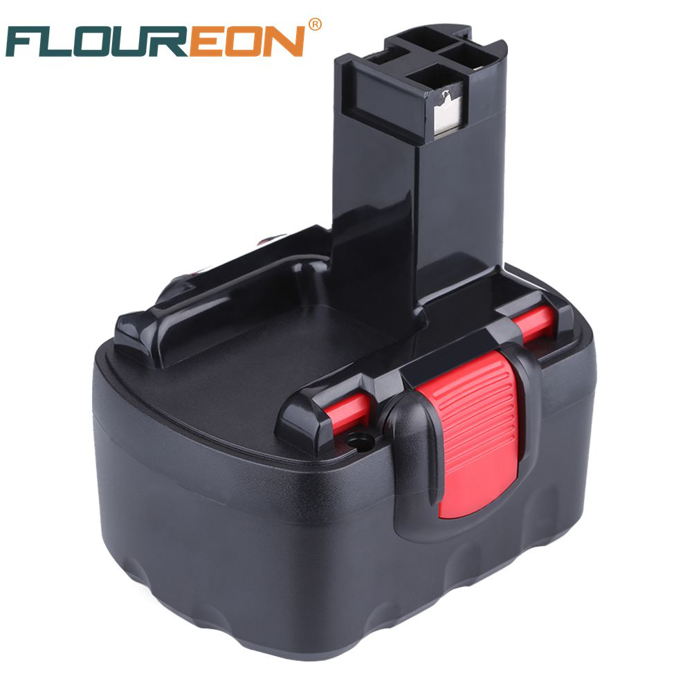 For Bosch FLOUREON BAT038 14.4V 2000mAh Rechargeable Battery Pack Power Tool Battery Cordless Drill Replacement for 3660CK Ni-CD