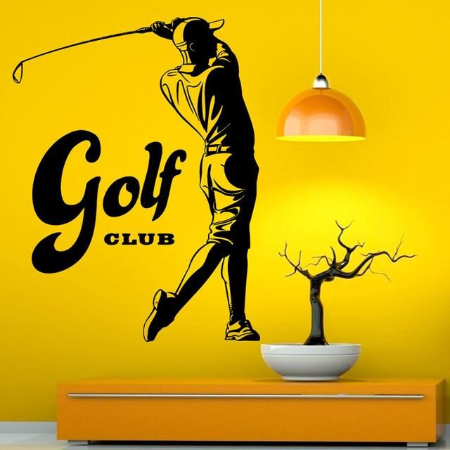 Sports Game Golf Vinyl Art Wall Decals Waterproof Wall Stickers Self ...