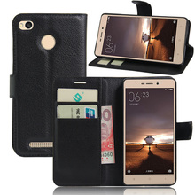 Wallet PU Leather Cases For Xiaomi Redmi 3 Pro/Redmi 3s 5.0″ Fingerprint Flip Cover Fundas Holder Card Slot Stand Phone Bags
