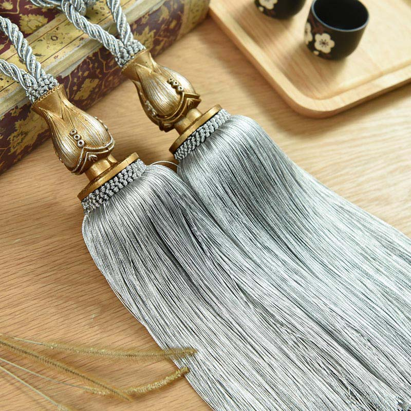 Curtain Tassel Hooks Gray Straps For Curtains Tieback Hanger Holder Hanging Ball Bandages Brushes Curtain Accessories CP087 #30