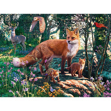 Diamond Painting Animal Pictures of Rhinestones Diamond Embroidery Sale Fox Needlework Diamond Mosaic Crafts Handmade Gift YY(China)
