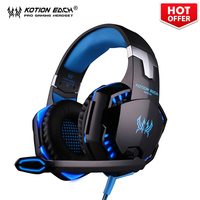 EACH G2000 Over Ear Game Gaming Headset 3 5mm LED Stereo PC Headphone Microphone Stereo Bass