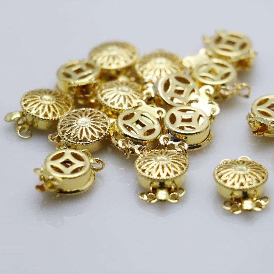 6186e6da4381 10 unids accesorios para el accesorio botón metal accesorio placa de plata  para la pulsera del collar de mecanizado joyería