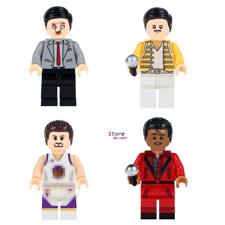 50pcs Mr Bean reddie Mercury Stephen Curry building blocks bricks toys for boys