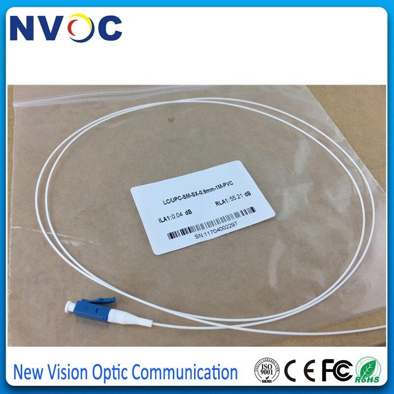10 шт./лот, 1,5 м 0,9 мм ПВХ оболочка SM SX LC UPC Волоконно-оптический косичка, LC/UPC одномодовый Simplex волоконно-оптический кабель