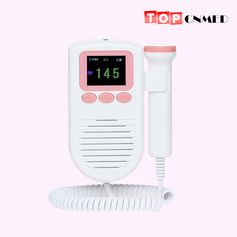 Fetal Doppler Baby Fetal Heart Rate Monitor for Pregnant Women 2.0Mhz Probe with FHR Scale with Loudspeaker(China)