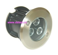 Stainless Steel High Power 3W LED Outdoor Light Good Quality DS 11S 05 3W 3X1W 12VDC