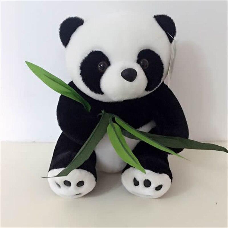 1 шт. 25 см сидя бамбук панда плюшевые Игрушечные лошадки фаршированные Panda Куклы мягкие Подушки дети Детский наряд для дня Рождения giftshigh кач...