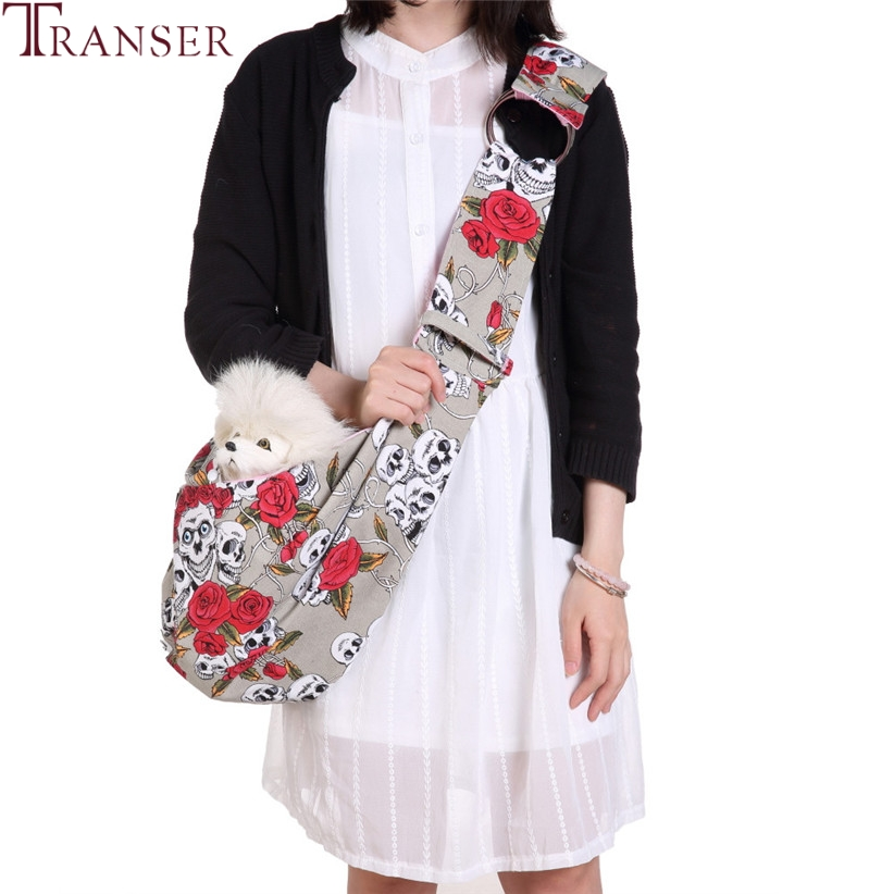 Transer Free Shipping Free Hands Print Pet Dog Carrier Bag Sling Messenger Bags For Carring Small Dogs Cats Traveling 80502