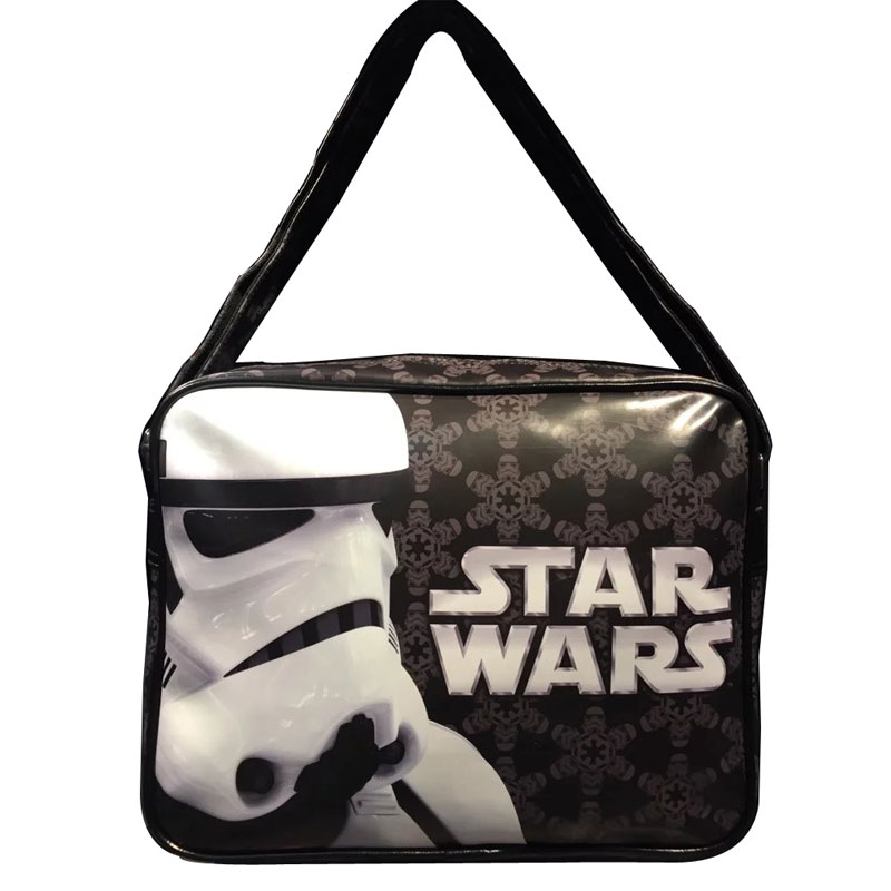 2017 New Men Shoulder Bags PU Leather Movie StarWar Star Wars Print Messenger Bag Gift for Young Students School Bags Cool Purse star wars purse high quality leather