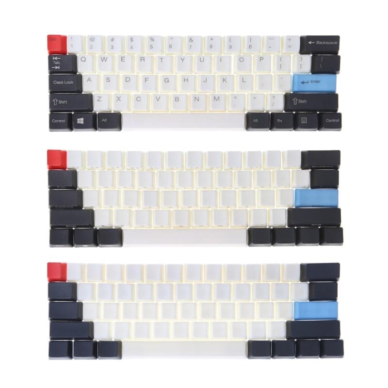61 ANSI Keyset OEM Profile Thick PBT Keycap set For Mechanical Gaming Keyboard