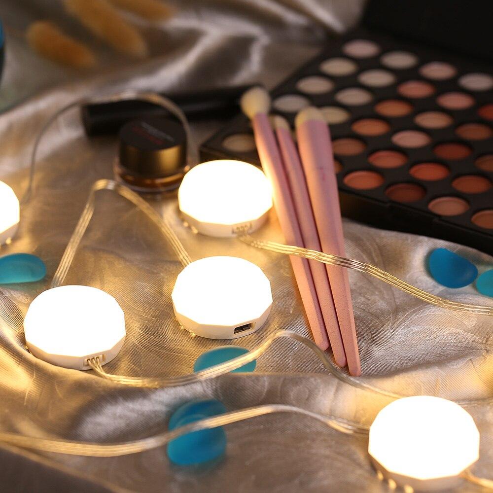 StoßFest Und Antimagnetisch Led Eitelkeit Spiegel Lichter Dimmbare 8 Pcs Licht Birnen Set Leuchte Streifen Für Dressing Zimmer Make-up Eitelkeit Tabelle Wasserdicht Schönheit & Gesundheit