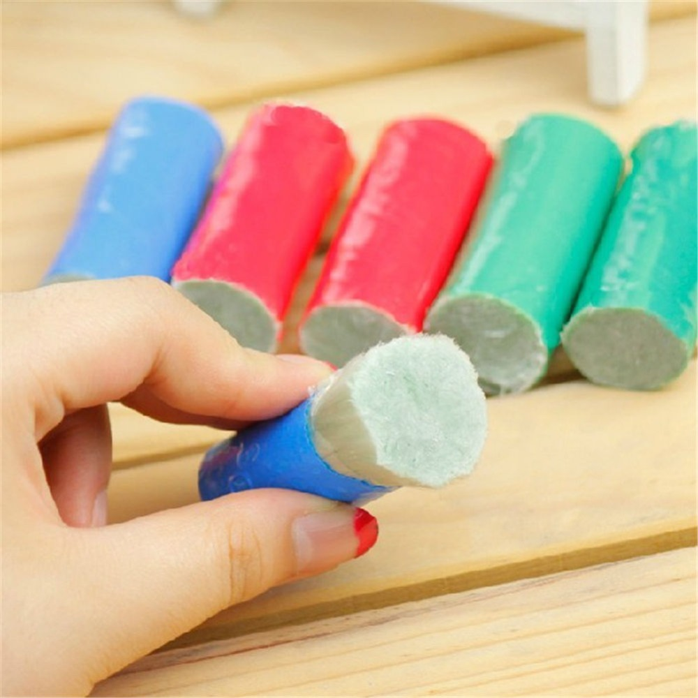 New Magic Stainless Steel Metal Rust Remover Cleaning Detergent Stick Wash Brush (Random Color)