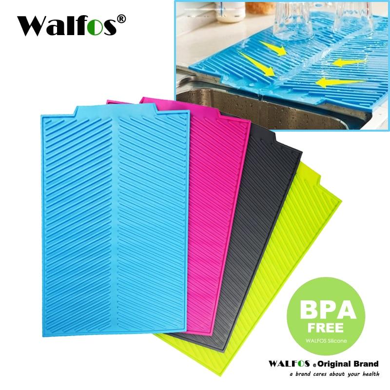 Walfos Food Grade Silicone Dish Bowl Drying Mat Extra