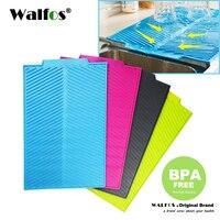 WALFOS food grade silicone Esteira de Secagem Prato tigela Extra Grande de Silicone Resistente Ao Calor Antibacteriano Dishwaser Seguro