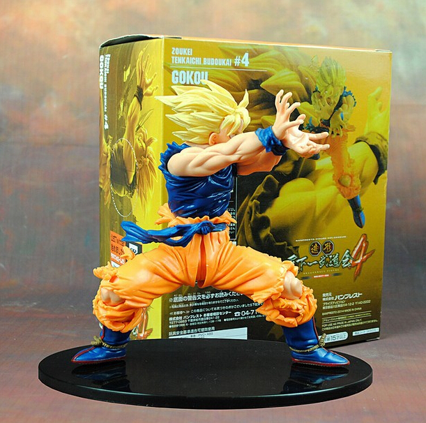 Dragon Ball Z Figurines Son Goku Super Saiyan Anime Dragonball Kamehameha 170mm Collection Modèle Jouets