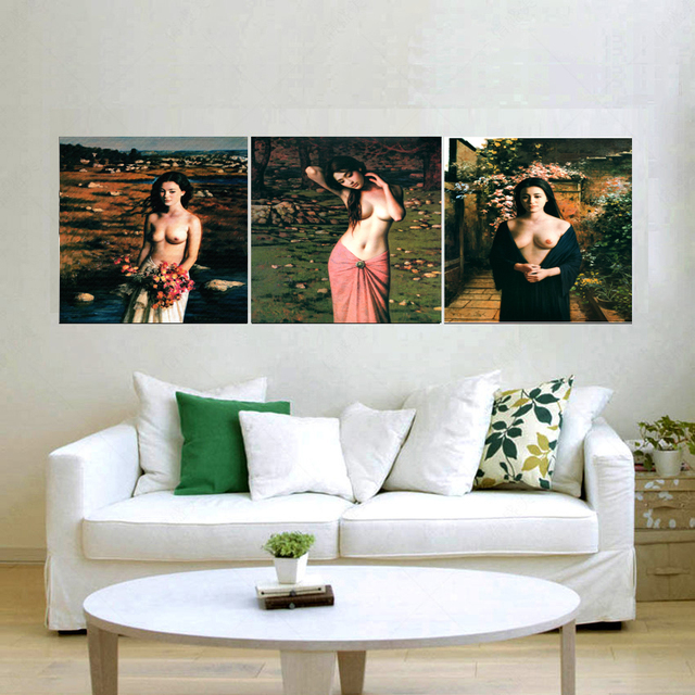 US $17.56 43% OFF|Aliexpress.com : Buy 3 panel Printed red tree art scenery  landscape modular picture large canvas painting for bedroom living room ...