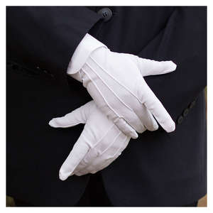 New White Formal Gloves Tactical Gloves Tuxedo Honor Guard Parade Santa Men Inspection Winter Gloves 1Pair