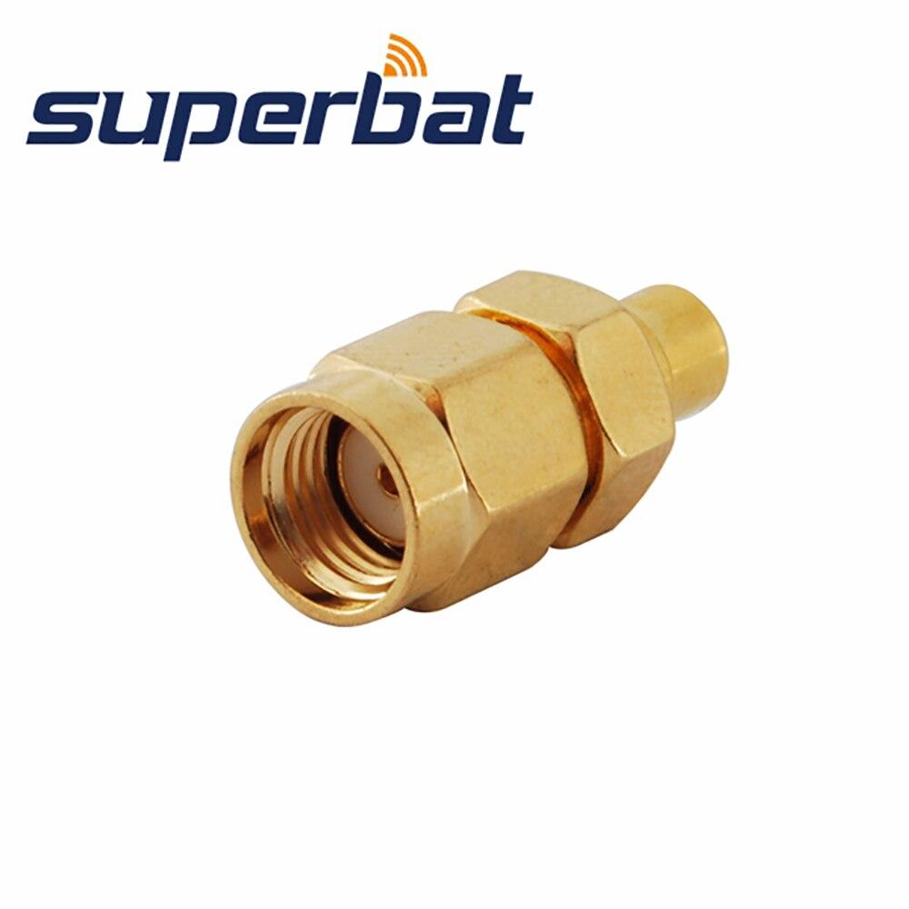 Superbat 5 Pcs SMA-MCX Adapter RP-SMA Male Plug To MCX Female Jack Straight RF Adapter