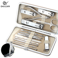 DeLiJia 14 in 1 Manicure set Professional nail clipper Finger Plier Nails art Multi functional Beauty tools scissors knife