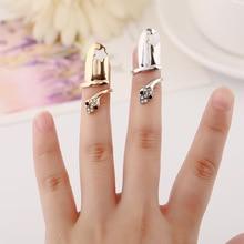 Punk Statement Ring Flash Rhinestone Snake Stars Nail Ring Wholesale Fashion Jewelry Wedding Accessories For Women