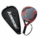 Kawasaki Merk Padel Tennis Carbon Fiber Soft EVA Gezicht Tennis Paddle Racket met Padle Bag Cover - 5