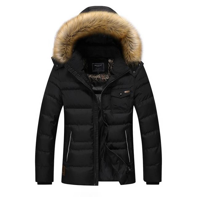 New Thickening Winter Jacket Men Cotton Padded Warm Parka Coats Hooded Outerwear Windproof Jackets Men/Male Fur Collar DJ074