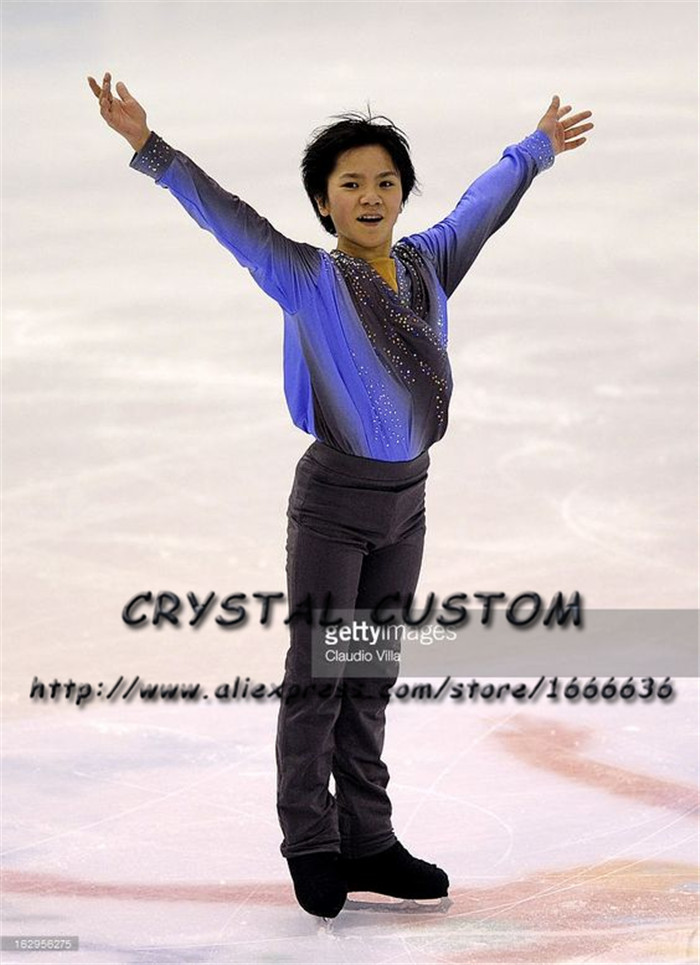Custom Figure Skating Clothes For Men /Boys Fashion New Brand Vogue Figure Skating Competition Costume MR3137