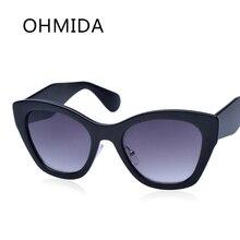 OHMIDA Cat Eye Sunglasses Mujeres Diseñador de la Marca de La Vendimia Oculos gafas lentes de sol Femeninas de Gran Tamaño Gafas de Espejo Gafas