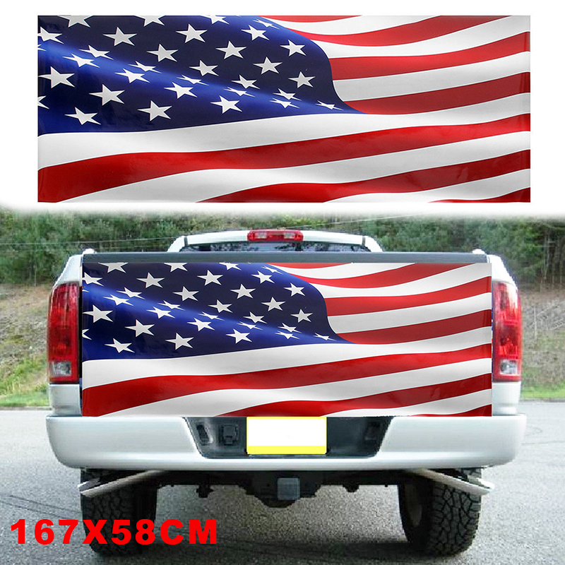 Image 4 - high quality Wave American Flag Truck Tailgate Vinyl Graphic Decal Sticker Wrap-in Car Stickers from Automobiles & Motorcycles