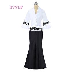 2019 vestidos de Madre de la novia A-line Scoop Cap mangas apliques largos Novias Vestidos de madre para bodas con chaqueta