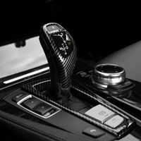 Center Console Gear Shift Frame Cover Trim For BMW F10 F18 F07 F06 F12 F13 F25 F26 LHD Carbon Fiber ABS Car Styling Interior