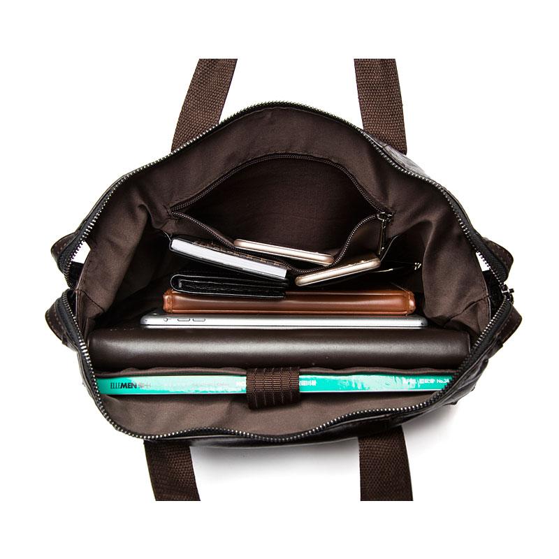 WESTAL Messenger Bag hommes en cuir véritable hommes sacs à bandoulière en naturel homme porte-documents ordinateur portable sac à bandoulière pour hommes 9103 - 4