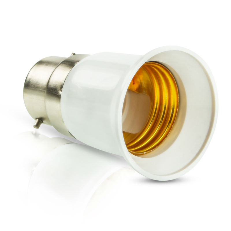 Big Promotion B22 To E27 Base LED Light Lamp Bulb Fireproof Holder Adapter Converter Socket Change