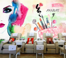 beibehang Customized 3d painted nail shop beauty salon decoration large mural poster image wall papers home decor papel de pared(China)