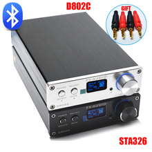 FX-Audio D802C Беспроводной Bluetooth версии Вход USB/AUX/оптический/коаксиальный чистый цифровой аудио Усилители домашние 24Bit /192 кГц 80 Вт + 80 Вт OLED