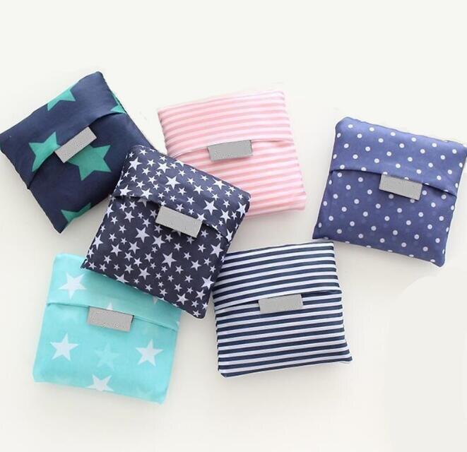 Neue Heißer Verkauf Mode druck faltbare grüne einkaufstasche Tote Folding beutel handtaschen Bequem Große kapazität lagerung taschen|Einkaufstaschen|   - AliExpress